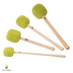 Ollihess Profi Gong Mallet Set in der Farbe Grün