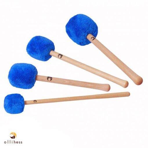 Ollihess Profi Gong Mallet Set in der Farbe Blau